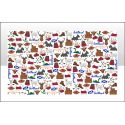 Scotland Icons Tea Towel